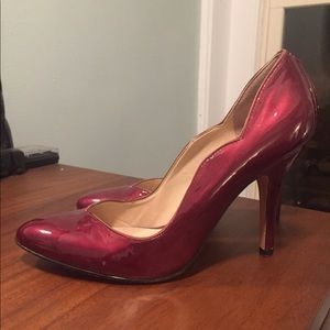 Red patent leather Joan and David heels